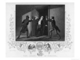 Spencer Perceval Prime Minster is Shot and Murdered by John Bellingham Premium Giclee Print by J. Rogers