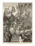 Third Crusade, Richard I Lands at Acre and Takes the City Giclee Print by A. Sandoz