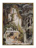 The Prince Looks Down on Sleeping Beauty Wondering How to Wake Her Giclee Print by Kay Nielsen