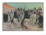 The Sabre Dance of the Bedouin Arabs Giclee Print by Georges Scott