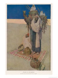 Two Men Pray Towards Mecca Giclee Print by Jules Guerin