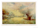 The Battle of Mobile Bay Giclee Print by E. Packbauer