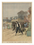 Sport for the Disabled at Nogent-Sur-Marne, Men with Wooden Legs Competing for First Place Giclee Print by Henri Meyer