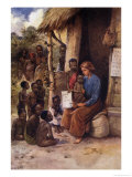 Missionary Teaches Her Pupils That God is Love Giclee Print by S.h. May