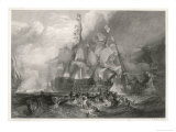 Battle of Trafalgar in the Midst of Battle Giclee Print