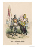 "French Soldier of the 100 Years War Carrying the ""Oriflamme"" or Standard Giclee Print by Philippoteaux"