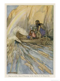 The Magic Boat of Mananan Carries the Sons of Turenn to the Garden of the Hesperides Giclee Print by Stephen Reid