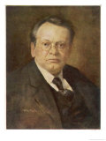 Max Reger German Composer Giclee Print by Ludwig Nauer