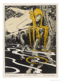 Rhinemaiden Sees the Rhine- Gold in Danger Giclee Print by Apard Schmidhammer