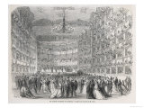 Masked Ball is Held in the Auditorium of la Fenice Venice Giclee Print by Édouard Riou