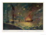 The Bombardment of Port Hudson by the Federals Giclee Print by E. Packbauer