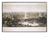 The Crystal Palace and Park with Fountains Lake and Extinct Animals Giclee Print by Needham