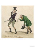 Debtor is Served with a Writ Giclee Print by Henry Heath