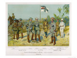 "Uniforms of ""Schutztruppen in Afrika"", on Left South-West Africa Giclee Print by R Knoetel"