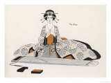 Japanese Musician Plays the Koto a Harp-Like Instrument Played Horizontally Giclee Print by R. Halls