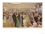 The Dorchester the Ballroom Giclee Print by Fortunio Matania