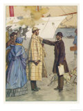 Around the World in Eighty Days: Fogg is Arrested on the Liverpool Dockside Giclee Print by Auguste Leroux