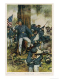 The Battle of Chickamauga the Confederate Army of the West Took on the Federals Giclee Print by C.d. Graves