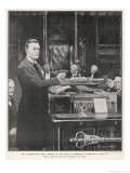 Joseph Chamberlain Liberal Politician Speaking in the House of Commons on 2 August 1901 Giclee Print by Sidney Paget