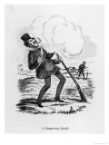 Dangerous Spark, a Man Gets a Shock When His Gunpowder Ignites Unexpectedly Giclee Print by  SEYMOUR