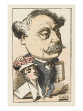 Alexandre Dumas Fils French Novelist Giclee Print by  Moloch
