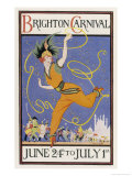 Poster for the Brighton Carnival 24 June to 1 July Stampa giclée di Conrad Leigh