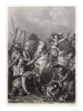 Battle of Rocroi, Louis II Conde Rallies the French Giclee Print by Pardinel