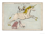 The Constellation of the Unicorn and Canis Minor Giclee Print by Sidney Hall