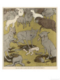 The Peace Conference the Wolves Gather Round the Carcasses of the Sheep They Have Killed Giclee Print by Wilhelm Schulz