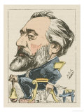Leon Michel Gambetta French Lawyer and Statesman: a Satirical Depiction Giclee Print by  Moloch