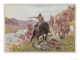 Boer War, Modder River Giclee Print by M. Plinzner