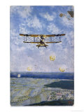 "German ""Albatros"" Fighter is Fired on from the Enemy Lines Giclee Print by F. Schulz-kuhn"