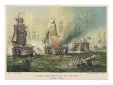 Battle of Cape St. Vincent the British Fleet Under Admiral Jervis Defeats the Spanish Giclee Print by T.c. Moore
