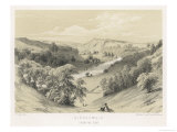 View into the River Irthing Gorge from the Fort of Birdoswald on Hadrian's Wall Giclee Print by J.s. Kell