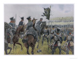 Prinz Carl Von Mecklenburg at the Battle of Goldberg Giclee Print by R Knoetel
