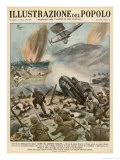 Major Air and Land Offensive by the Italians Against the Ethiopians Giclee Print by E. Mainetti