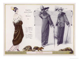 An Evening Mantle in Mink with an Ermine Cape Collar Giclee Print by Jacques Nam