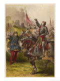 Henry V, Act IV Scene I: Henry V Victorious after the Battle of Agincourt Giclee Print by Joseph Kronheim