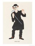 George Robey Music Hall Entertainer Giclee Print by Elizabeth Pyke