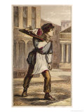 Butcher's Boy Delivering an Order on Foot Giclee Print by H.w. Petherick