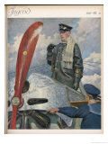 Before Take-Off a German Naval Pilot Contemplates the Mission Before Him Giclee Print by E. Godberson