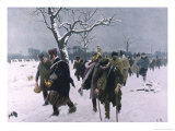 The French Army Retreats from Moscow Giclée-Druck von Carl Roechling