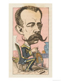 Amadeo King of Spain Elected 1870 Abdicated 1873: a Satirical View Giclee Print by  Moloch