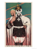 Wilhelm II German Emperor Removes His Mask to Reveal the Skull Underneath Giclee Print by Paul Iribe