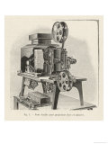 Gaumont Projector Adaptable to Both Still and Moving Pictures Giclee Print by Poyet 
