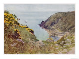 Cornish Scenery: Lamorna Cove Reproduction procédé giclée par G.f. Nicholls