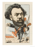 Clovis Hugues French Writer Giclee Print by  Moloch