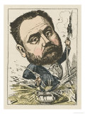 Emile Zola French Novelist Giclee Print by  Moloch