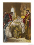 King Lear, Act IV Scene I: Cordelia Attends Her Father's Bedside Giclee Print by Joseph Kronheim
