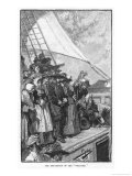 William Penn and Other Quakers Sail to the New World in the Welcome Giclee Print by Howard Pyle